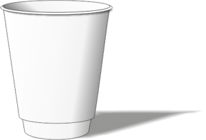 белый двухслойный стакан