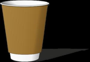 двухслойный стакан крафт